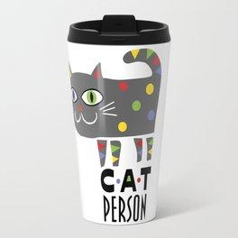 Cat Person Travel Mug