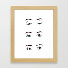 Brows and Eyes Framed Art Print