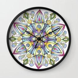 mandala Winter Wall Clock
