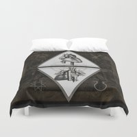 alchemy Duvet Covers featuring Alchemy Of heart by Dark Room