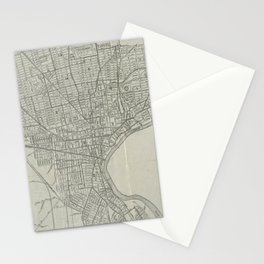 Vintage Map of Newark NJ (1920) Stationery Cards