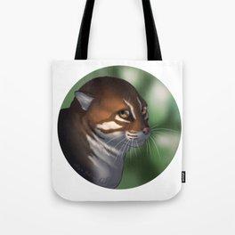 Flat-headed cat portrait Tote Bag