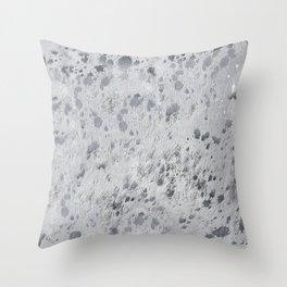 Silver Hide Print Metallic Throw Pillow