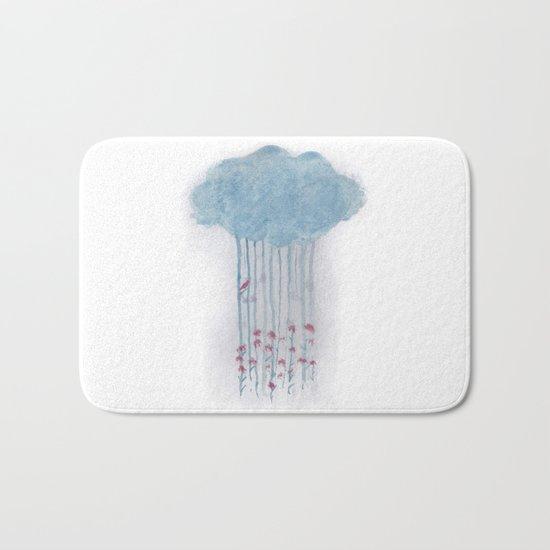 Rain in the woods Bath Mat