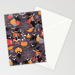 Enchanted Vintage Halloween Spell Stationery Cards