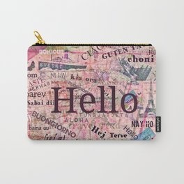 Hello in different languages travel quote Carry-All Pouch