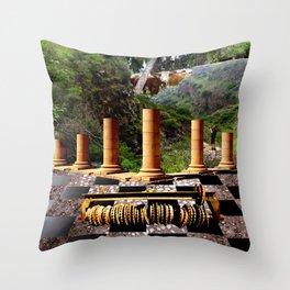 The Elemental Tourist - Earth Throw Pillow