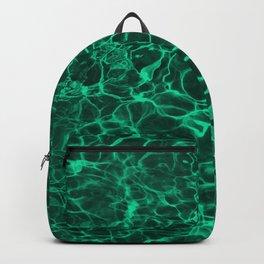 Aqua Green Blue Underwater Wavy Rippling Water Backpack