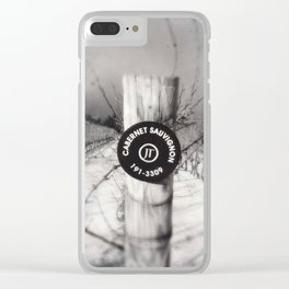 Cabernet - black and white wine photo vineyard Clear iPhone Case