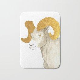Golden Big Horn Sheep Bath Mat