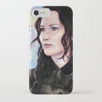 katniss iPhone & iPod Cases featuring Katniss Everdeen by Alina Rubanenko