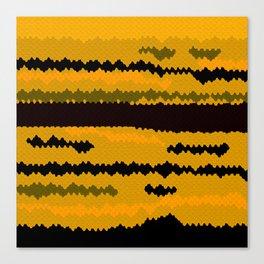 Gold fish coat Canvas Print