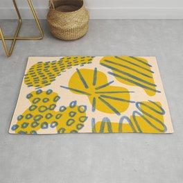 Abstract minimalism shapes - colorful minimalism print - minimal palette design print Rug