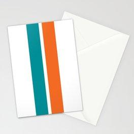 Aqua Orange Miami Color Stationery Cards