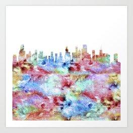 Chicago Illinois Skyline Art Print