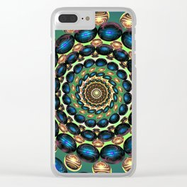 Copper Sapphires II Clear iPhone Case
