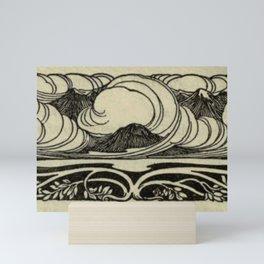 Art Nouveau Mountains Mini Art Print