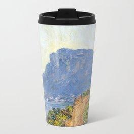 1884-Claude Monet-La Corniche near Monaco Travel Mug