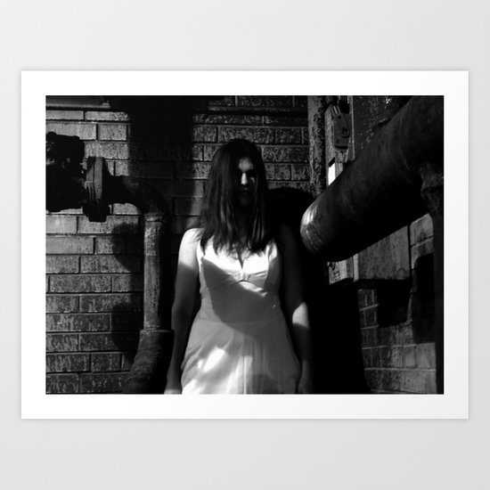 Lady in White (1 of 7) Art Print