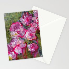 Meet me at the flower shop - Floral painting Stationery Cards