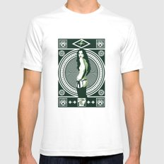 K•MOSS White Mens Fitted Tee SMALL