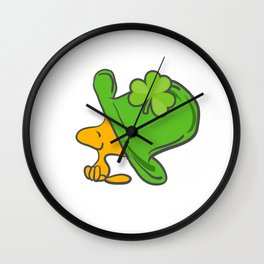 Leprechaun Hat Clover Saint Patrick's Day Lacrosse Ireland Gift Wall Clock