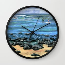 Poipu Beach Landscape Wall Clock