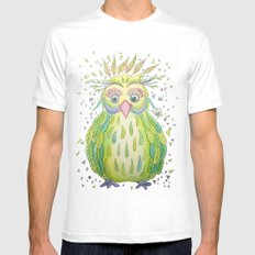 Forest's Owl White MEDIUM Mens Fitted Tee