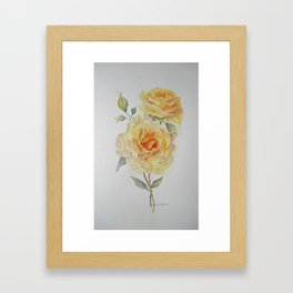 One rose or two Framed Art Print
