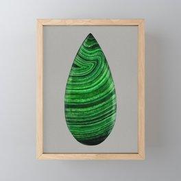 Green Malachite Mineral Framed Mini Art Print