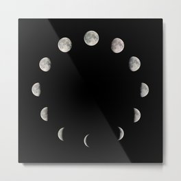 Moon Stages Metal Print