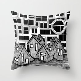 All We Do Is Stare Out Windows Throw Pillow