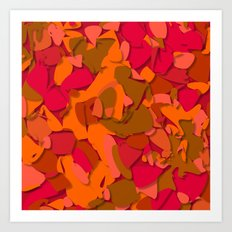 red camouflage Art Print