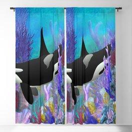 Under The Sea Orca Killer Whale Blackout Curtain