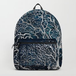 Midnight Silver tree - Wallnut Backpack