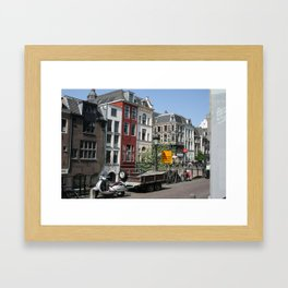 Photograph of Dutch city Utrecht a typical old city heart of the Netherlands Framed Art Print
