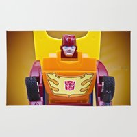 transformer Area & Throw Rugs featuring G1 Transformers Autobot Rodimus Prime by TJAguilar Photos