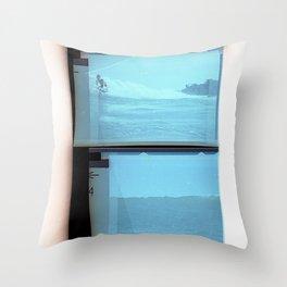 Paradise Cove 1974 Light Blue Throw Pillow