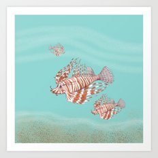 Fish Manchu Art Print