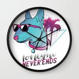 Dog Neon Wall Clock