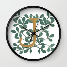 Forest Letter J Lite 2020 Wall Clock