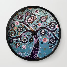 abstract Art Landscape Original Painting ... Dancing In the Light Wall Clock