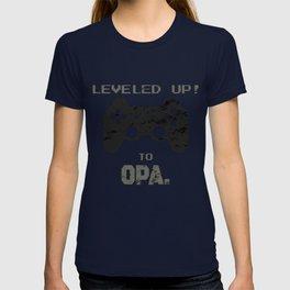 LEVELED UP! to Opa jiichan for Men T-shirt