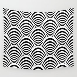 Art Deco Palm Pattern Wall Tapestry
