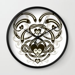 Playing Cards - Heart Wall Clock