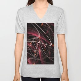 fractal lines bends shine Unisex V-Neck
