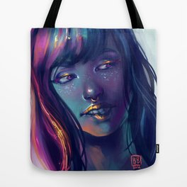 Neon Kiss Tote Bag