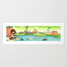 Savousepate on Namek Art Print