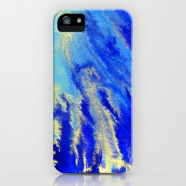 Gold & blue abstract 1710009 iPhone Case