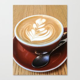 Stumptown Latte Art Canvas Print